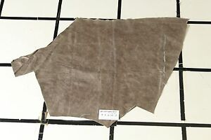 """""""Greyswood"""" Taupe Scrap Leather Hide w/Crackle Finish Approx. 3.5 sqft. T1A17-7"""