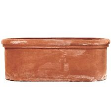 50cm Terracino Oval Trough/Garden Plant Pot/Window Box Planter/Tub/Terracotta