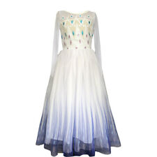 Frozen 2 Costume Kids Girls Elsa Snow Queen Cosplay Dress Halloween Outfit Party
