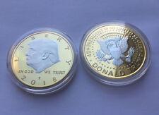 Donald Trump 2 Tone Silver on Gold 2018 Commemorative Collectors Coin NEW