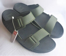 8f8aea83bf0 Fitflop Gogh Moc Pool Slide Adjustable Everglades Green Mens Sandals Beach  Sz 11