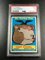CASEY STENGEL 1959 TOPPS #552 ALL STAR EX PSA 5 NEW YORK YANKEES MLB HOF