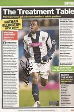 WEST BROM: NATHAN ELLINGTON SIGNED A4 (12x8) MAGAZINE PICTURE+COA