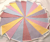 40ft 12m Gingham  BUNTING WEDDINGS vintage shabby chic handmade. 2 x  20ging