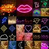 LED Neon Schild USB Akku Nachtlicht Wand Verbindung Club Hintergrund Lampe Dekor