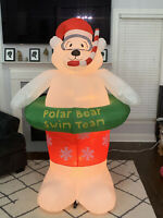 Gemmy Airblown Animated Inflatable Polar Bear Swim Team Christmas Yard Decor