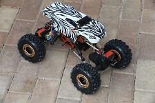 Custom Body Mini Zebra Style for Redcat Racing Rockslide / Everest 1/10 Crawler
