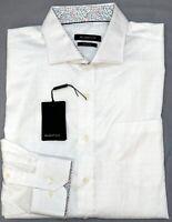 NWT $149  Bugatchi LS Shirt Mens Size L XL XXL Classic Fit White NEW Geometric