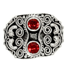 Garnet - Madagascar 925 Sterling Silver Ring Jewelry s.8 AR158364 126X