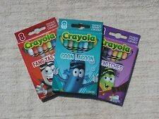 3 Boxes Crayola Halloween Crayons, Cute Party Favors Vampire, Goon, Witch