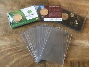 20 x pochette plastique de protection format carte de crédit coincard euro