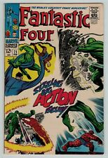 Fantastic Four 71 Mad Thinker android Lee Kirby Silver 1968 sharp FN Fine