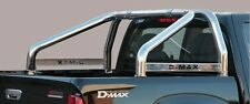 ROLL BAR MARK SPONDE MISUTONIDA INOX D. 76MM 2 TUBI PER ISUZU D-MAX '07/'12 D.C.