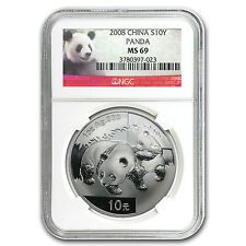 2008 China 1 oz Silver Panda MS-69 NGC - SKU #58096