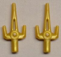 x2 Lego Ninjago Weapons Sai PERL GOLD