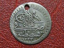 Ottoman empire Turkey silver 1223 Mahmud 2 Onluk 10 para very rare coin