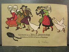 cpa fantaisie bretons bretonne costume oies la belle jardiniere lyon pub