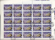 CCCP 1980URSS 32 feuilles 25TP 2k Hélicoptères sovietiques MI 8