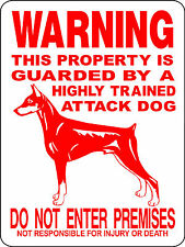 Doberman Pinscher Dog Sign,Guard Dog Sign,Decal,Dog Sign, Vinyl Graphics 2276Dpr