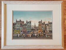 """Michel Delacroix """"Marchand de Quatre Saisons"""" - Framed and Matted Lithograph"""