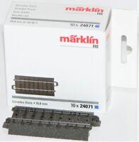 Märklin H0 24071-S C-Gleis gerade 70,8 mm (10 Stück) - NEU + OVP