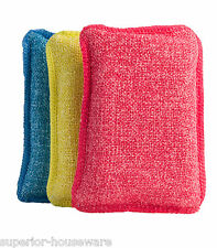 Ultra Micro Fiber Miracle Scrubbing Sponge (3 Pack)  Blue - Red -Yellow -332