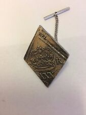Charles I Newark Half Crown WC41 Tie Pin With Chain Made From English  Pewter