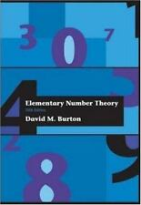 Elementary Number Theory by David M Burton: (BRAND NEW )