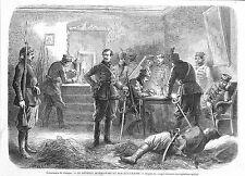 POLOGNE POLAND LE GENERAL WLADYSLAW BENTKOWSKI GRAVURE ILLUSTRATION 1863