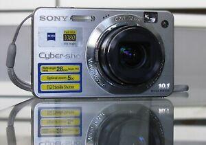 Sony Cyber-shot DSC-W170 10,1 MP Digitalkamera + 2GB + Etui - Silber