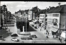 """LA CHAUX DE FONDS (SUISSE) CITROEN TRACTION au COMMERCE """"ARTS GRAPHIQUES"""" 1952"""