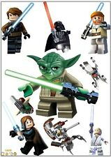 Lego Star Wars Yoda wall stickers brand new (8 stickers)