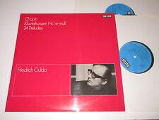 2 LP/FRIEDRICH GULDA/CHOPIN KLAVIERKONZERT 1/24 PRELUDES/Decca KD 11016-1-2