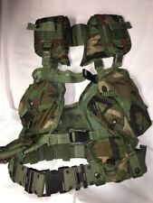ENHANCED Tactical Load Bearing Vest *** Woodland Camo *** w/belt and holster