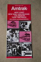 Amtrak - West Coast -  Timetable - June 15, 1976