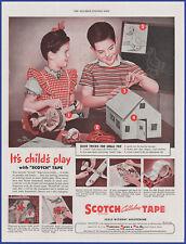 Vintage 1946 3M SCOTCH Tape Ephemera 40's Print Ad