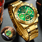 Waterproof Men Stainless Steel Quartz Watch Classic Luminous Business Wristwatch