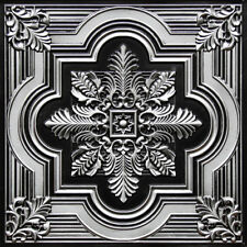 PVC Decorative Ceiling Tile 2'x2' -Antique Silver #206 Drop-in / Glue-up