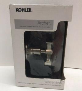 NEW Kohler R-11055-BN Archer Double Robe Hook Brushed Nickel -Silver