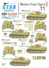 Star Decals 1/72 WESTERN FRONT TIGERS Tiger Tanks SS Panzer Divisions Part 2