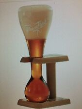 New Set of 6 Pauwel Kwak Belgian Ale Beer Glass with Wooden Stand 0.3L