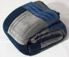 Kaison Gray Quilts Bedspreads Velvet, Cotton Coverlets Checks (90X90 Cm)