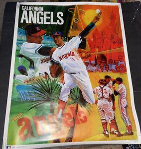 "SCARCE 1971 BASEBALL PROMOTIONS/MLB~CALIFORNIA ANGELS~ 23x29""~POSTER PREMIUM"