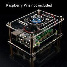 Raspberry Pi 3/2 Model B & B+ Arcylic Clear Case Box Enclosure with Fan Heatsink
