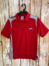 Nike Fit-Dry Women's Ohio State Buckeye's Golf/Polo Shirt Red/Gray Sz M (8-10)
