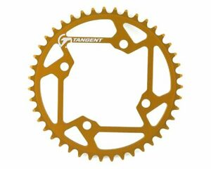 Tangent Halo 4-Bolt Chainring - Gold - 42T - BMX - Racing - Brand New