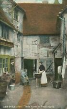 More details for vintage bedfordshire postcard, old luton, two's company, three's none jx4