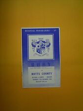 League Division Two - Bury v Notts County - 15th December 1956