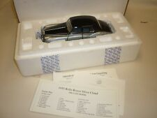 A Franklin mint scale model car of a 1955 Rolls Royce Silver Cloud 1. boxed