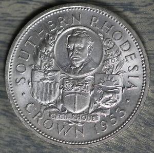 Beautiful Uncirculated 1953 Southern Rhodesia Silver Crown!